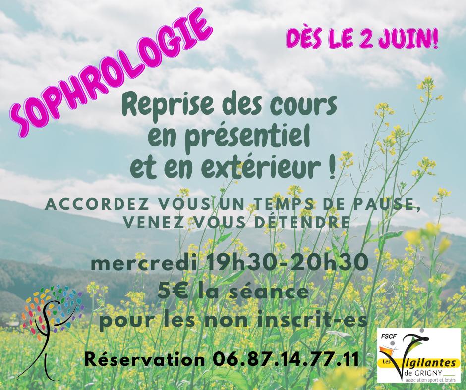 Sophrologie - Reprise des cours 2 juin 2021