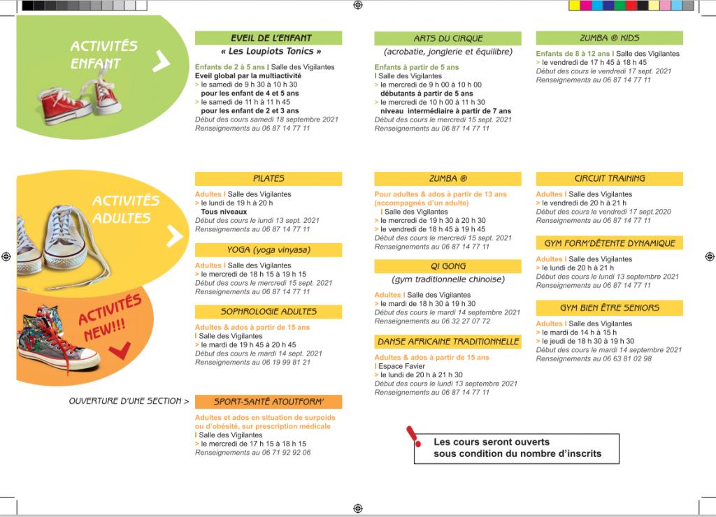 Programme 2021 détails
